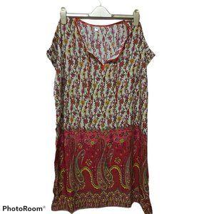 3XL-4XL peasant tunic summer hippie boho paisely
